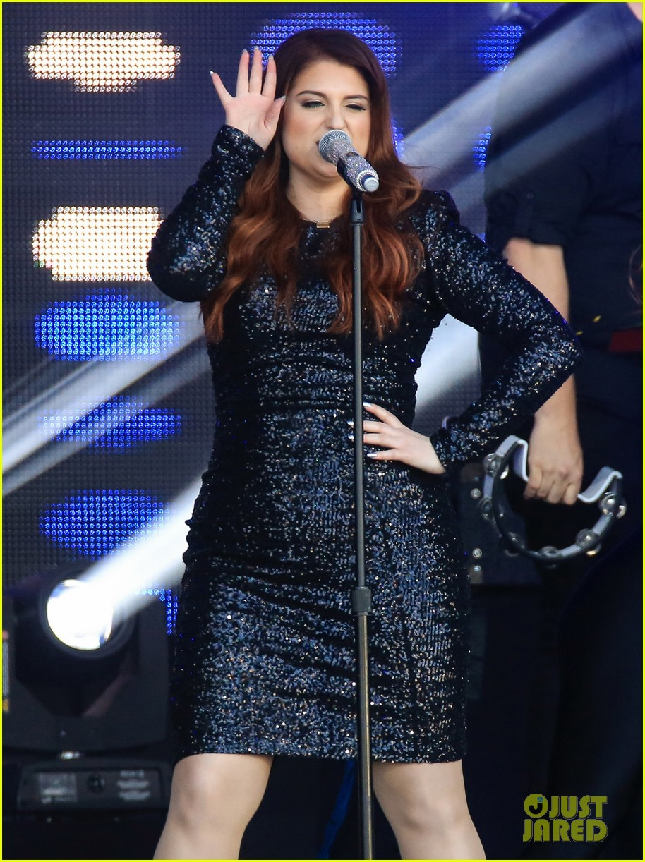 meghan trainor performs jimmy kimmel live pics blessed ig 343684227