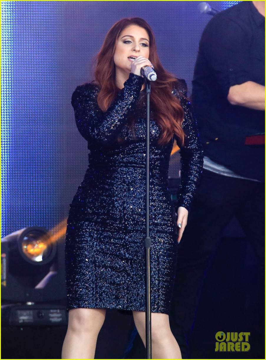 meghan trainor performs jimmy kimmel live pics blessed ig 353684228