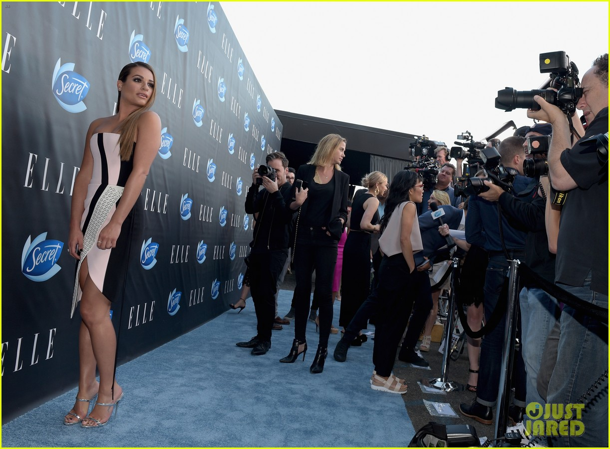 lea michele nina dobrev elle women in comedy event 103677280