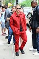 nick jonas red suit aol build appearance 17
