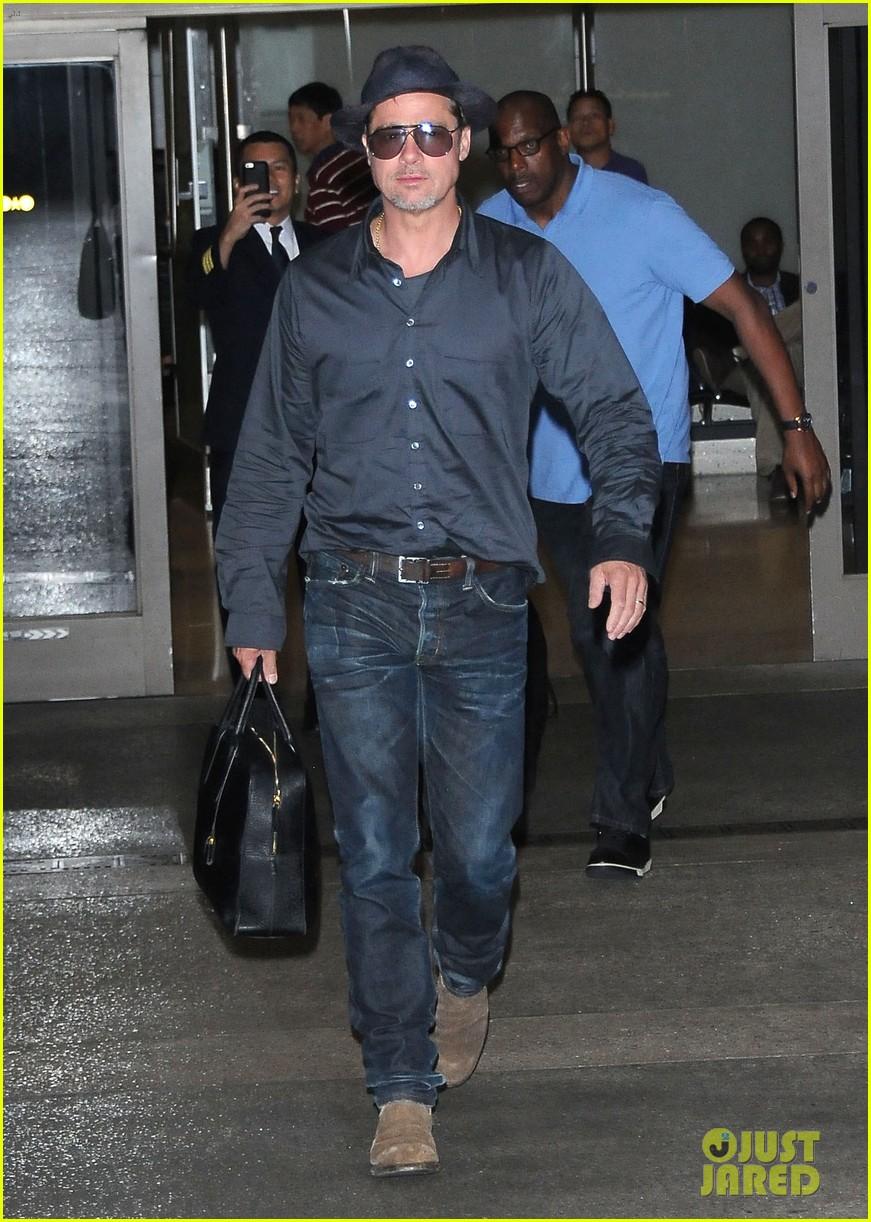 Brad Pitt Returns Home...