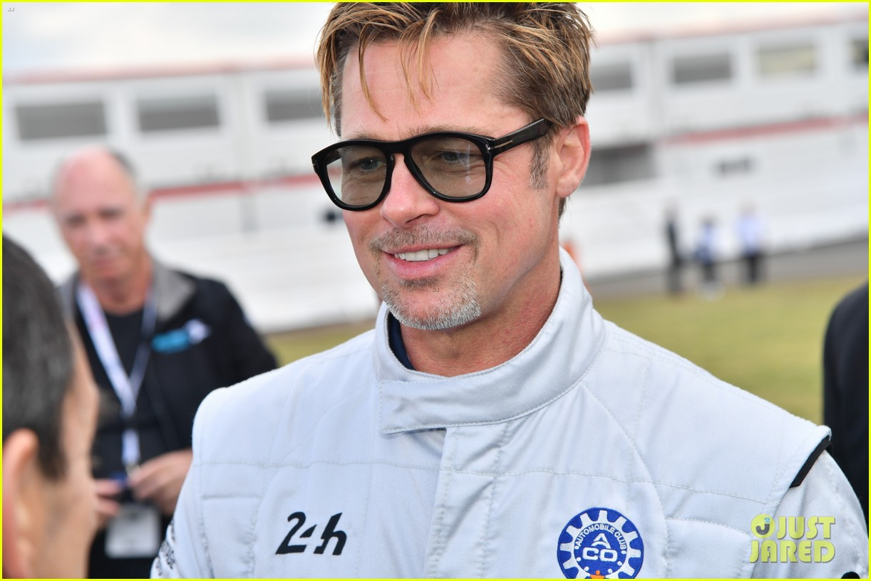 brad pitt becomes a race car driver at le mans 24 hours event 023685744