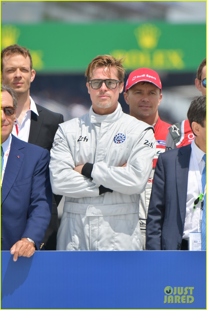 brad pitt becomes a race car driver at le mans 24 hours event 033685745
