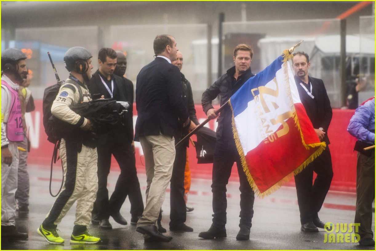 brad pitt becomes a race car driver at le mans 24 hours event 053685747