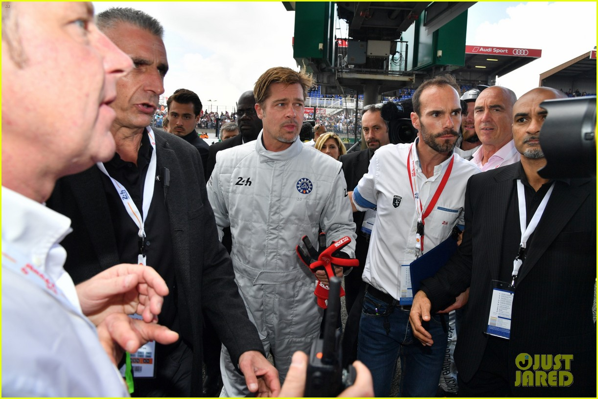 brad pitt becomes a race car driver at le mans 24 hours event 163685758