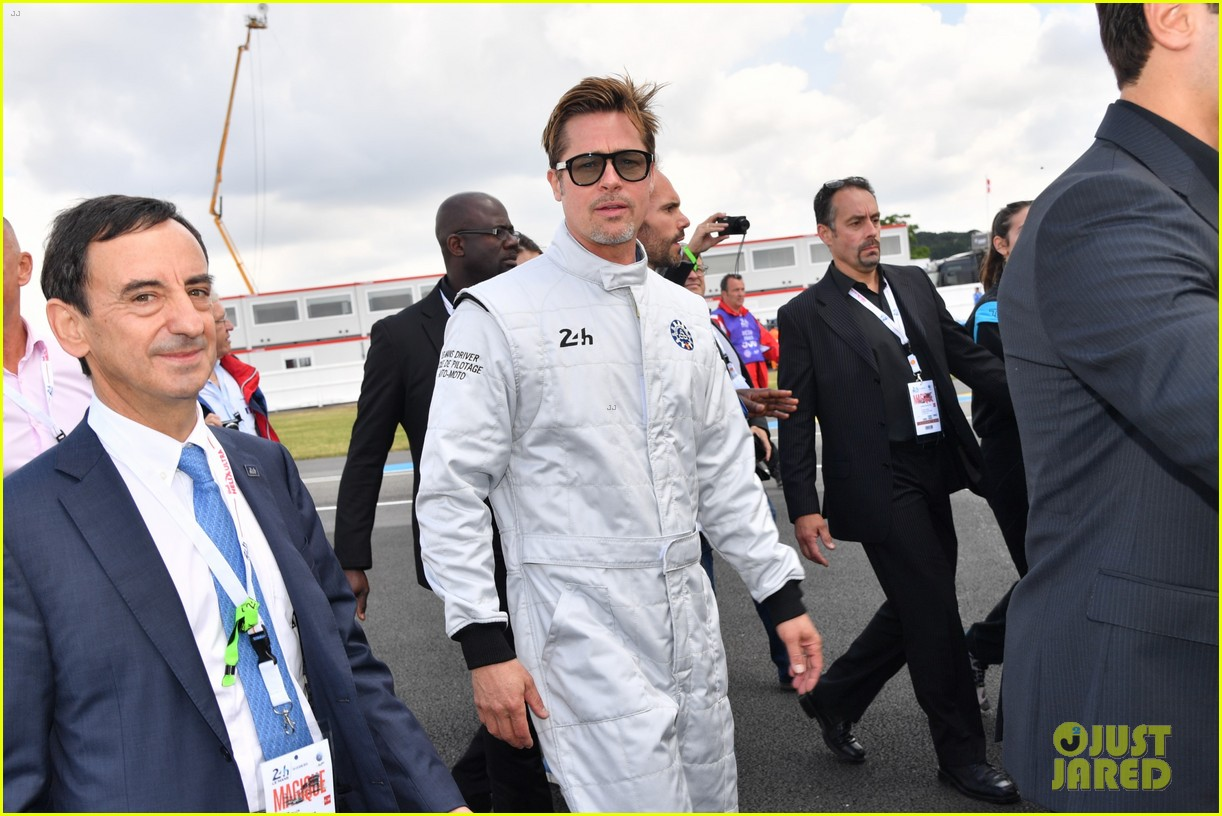 brad pitt becomes a race car driver at le mans 24 hours event 213685763