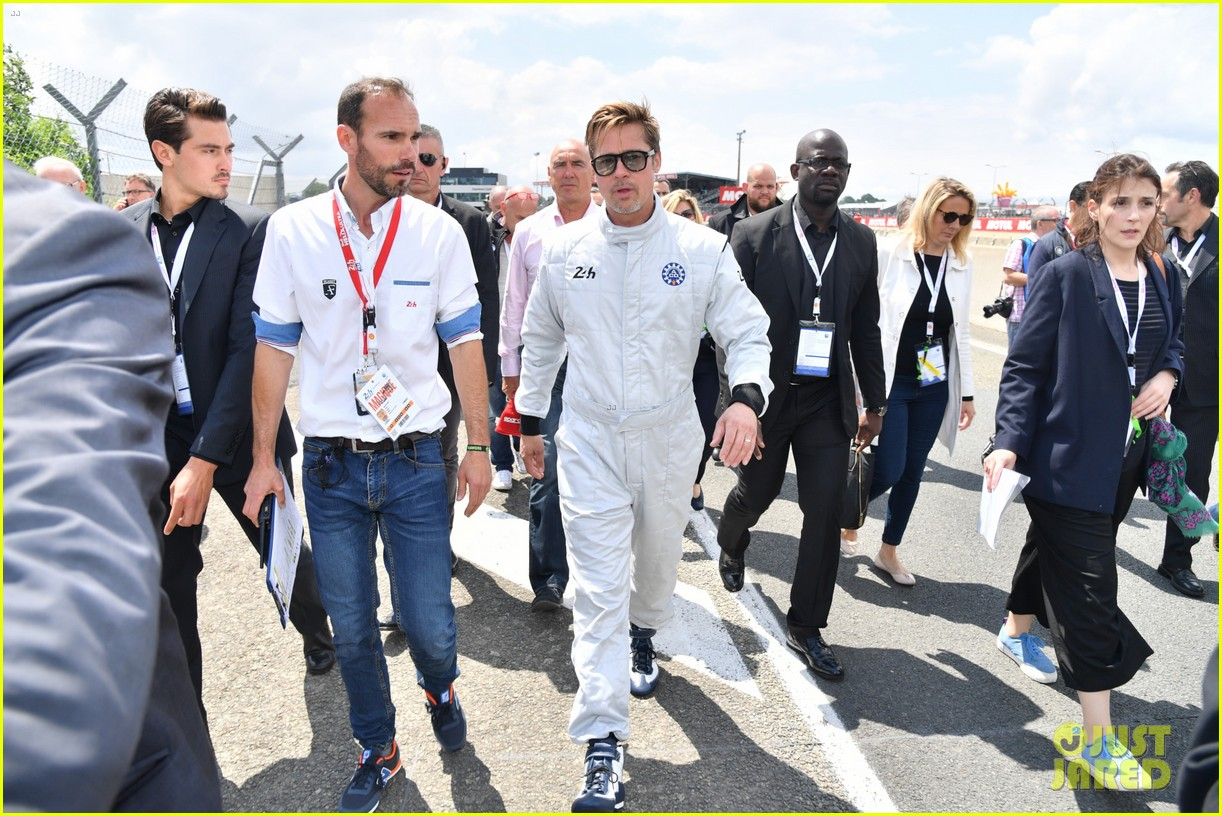 brad pitt becomes a race car driver at le mans 24 hours event 223685764