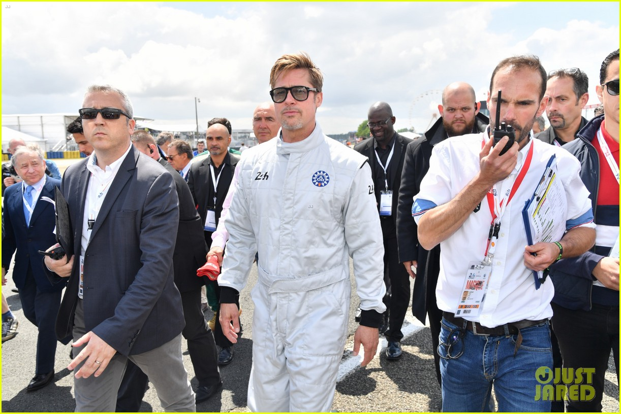brad pitt becomes a race car driver at le mans 24 hours event 233685765