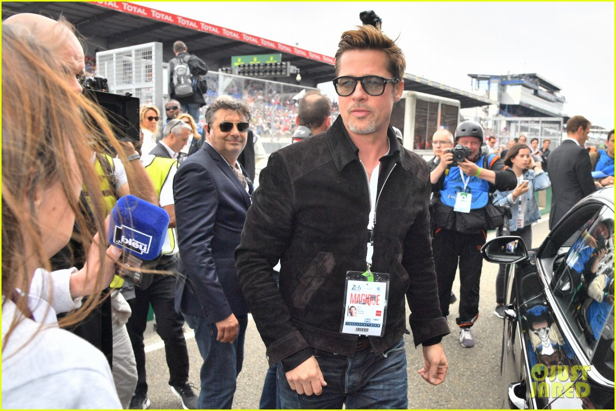 brad pitt becomes a race car driver at le mans 24 hours event 293685771