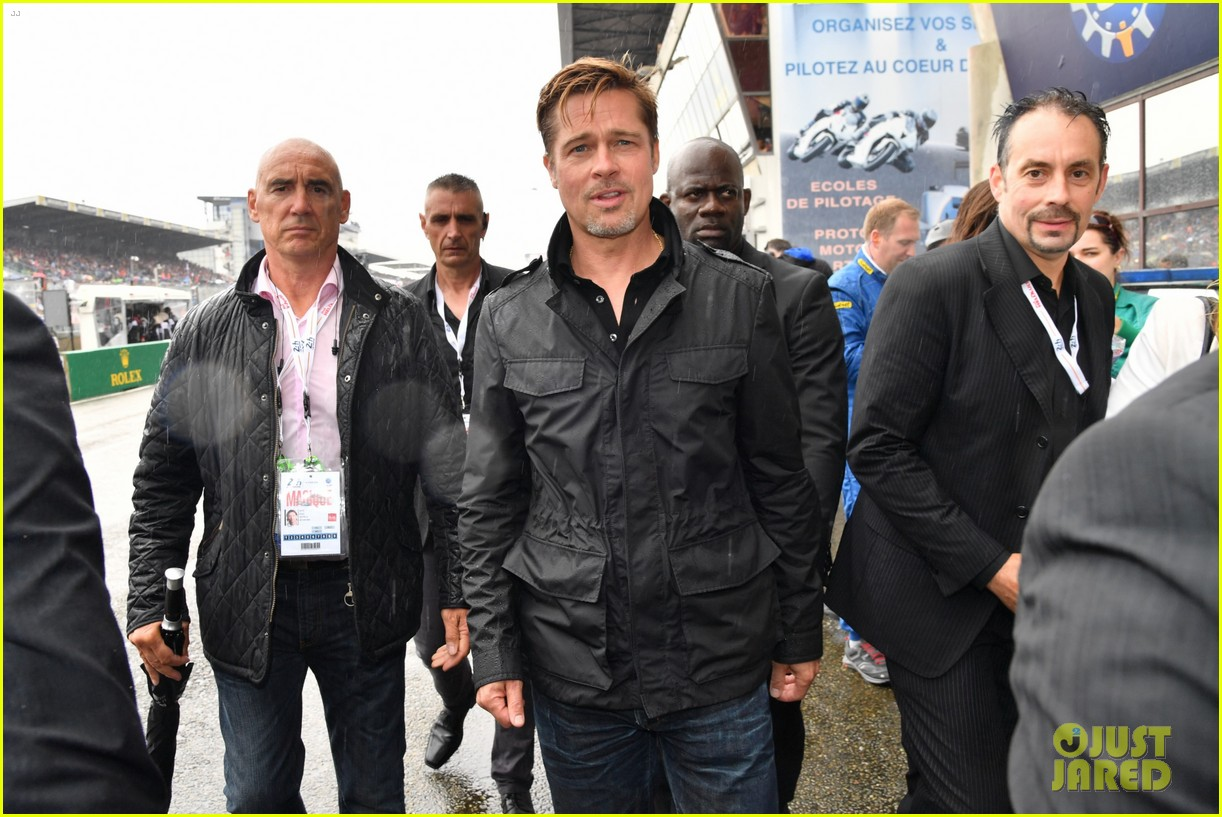 brad pitt becomes a race car driver at le mans 24 hours event 313685773
