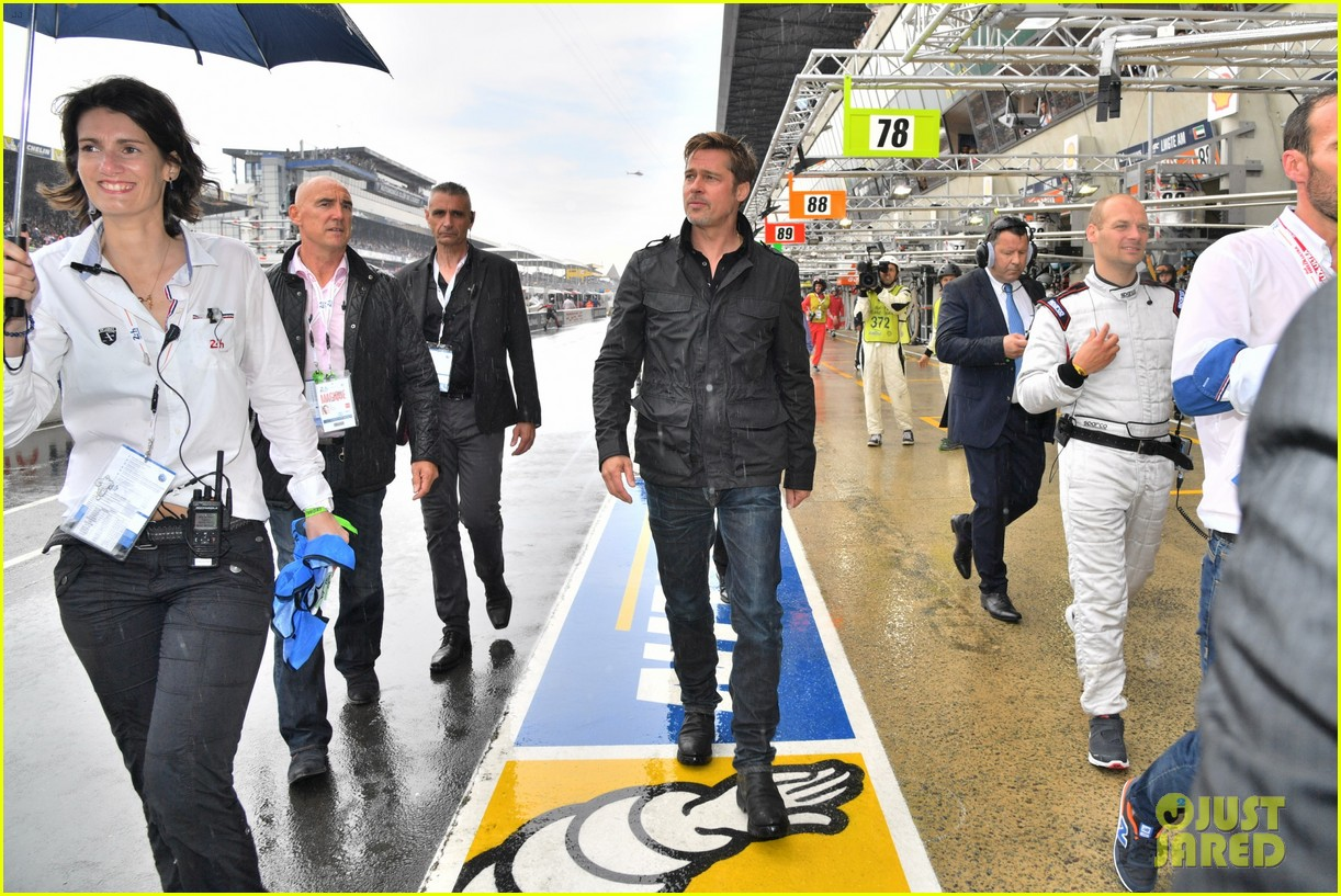 brad pitt becomes a race car driver at le mans 24 hours event 323685774