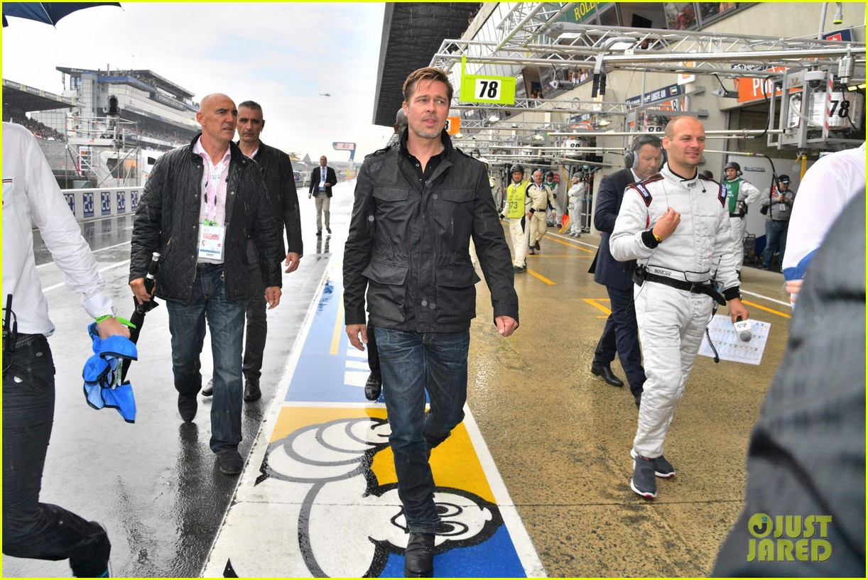 brad pitt becomes a race car driver at le mans 24 hours event 333685775