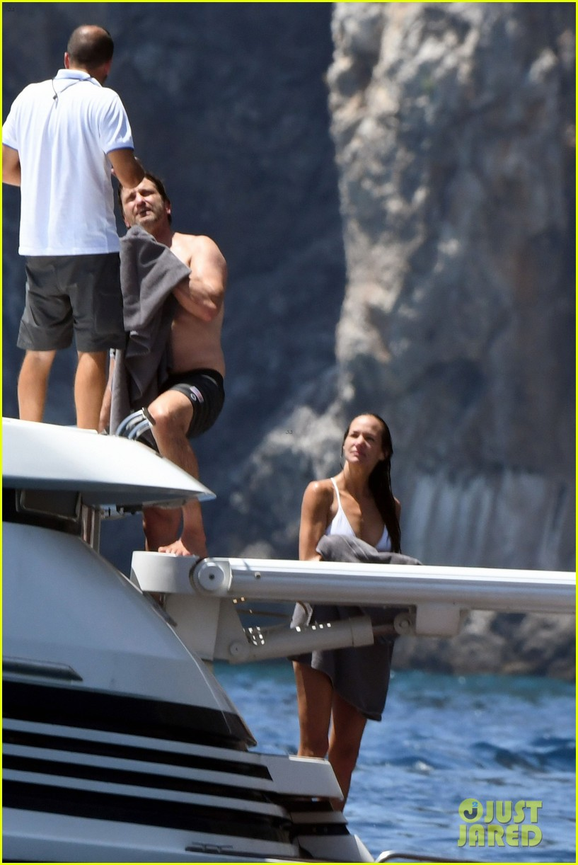 gerard butler girlfriend morgan brown romantic boat ride in italy 263706602