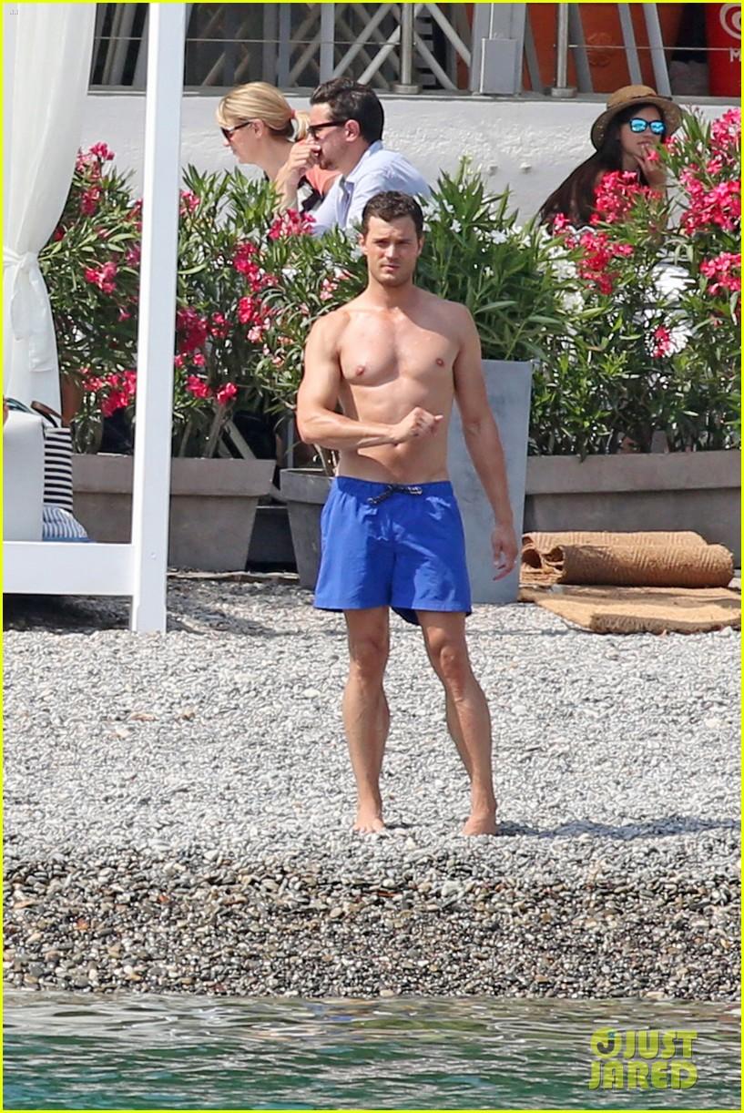 jamie dornan dakota johnson shirtless bikini fifty shades freed honeymoon 153704236
