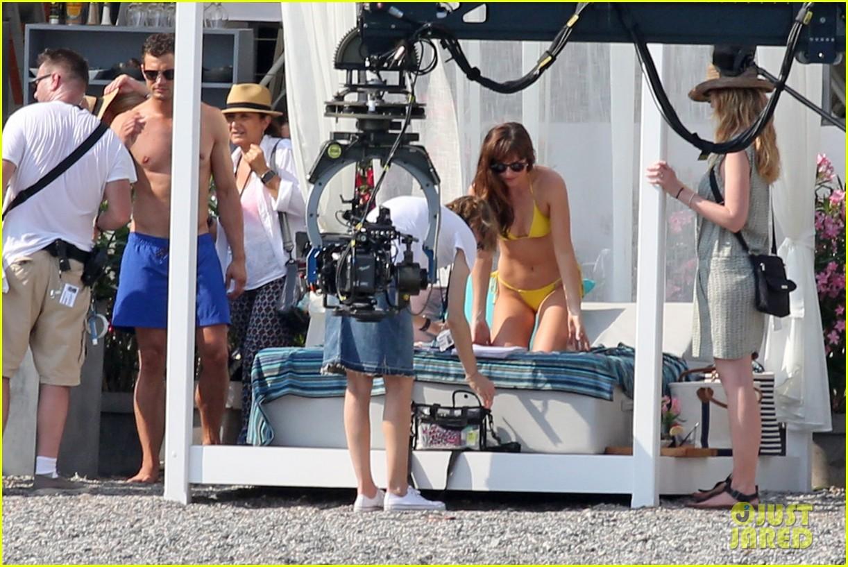 jamie dornan dakota johnson shirtless bikini fifty shades freed honeymoon 203704241