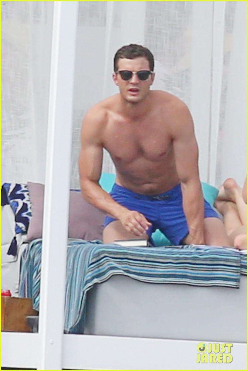 jamie dornan dakota johnson shirtless bikini fifty shades freed honeymoon 273704248