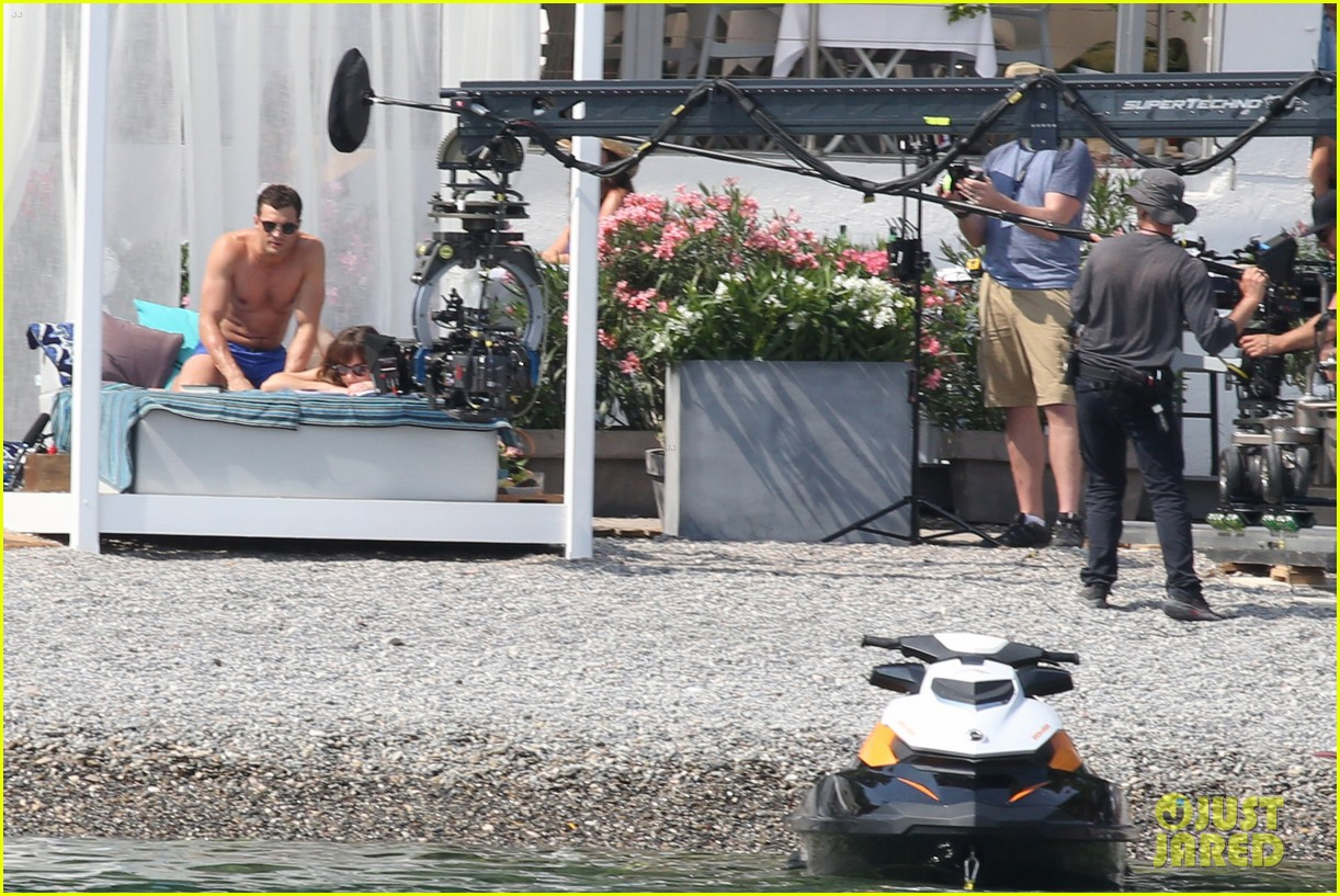 jamie dornan dakota johnson shirtless bikini fifty shades freed honeymoon 293704250