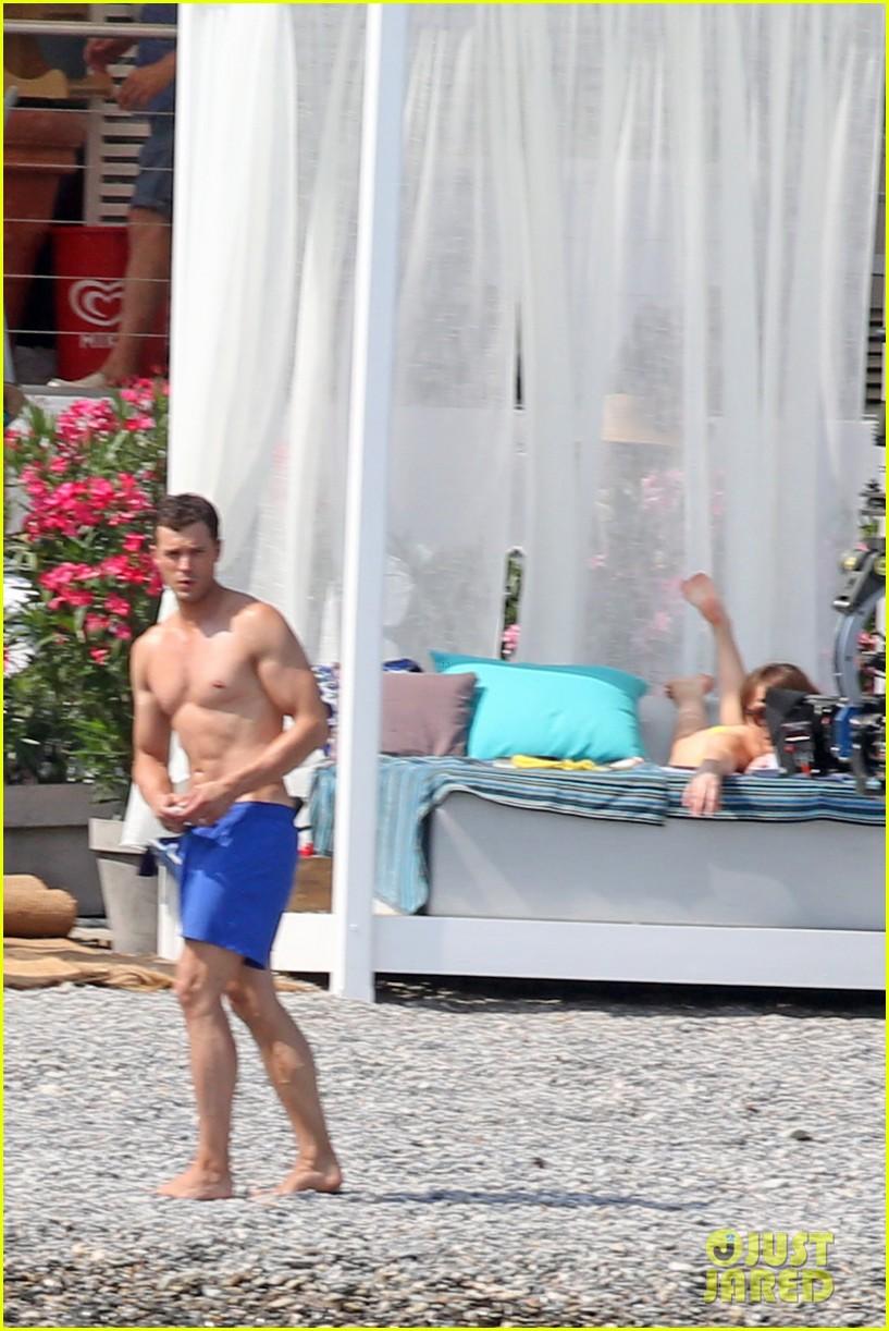 jamie dornan dakota johnson shirtless bikini fifty shades freed honeymoon 323704253
