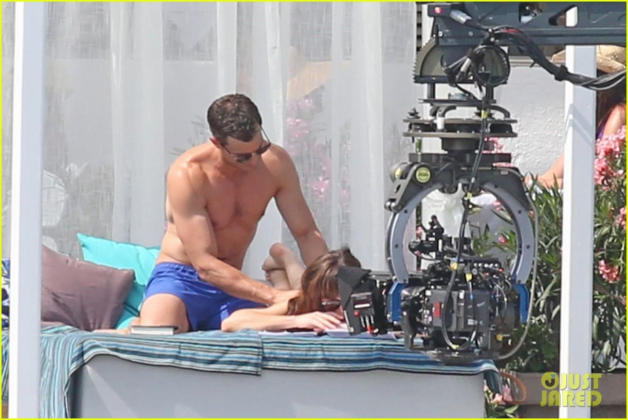 jamie dornan dakota johnson shirtless bikini fifty shades freed honeymoon 333704254