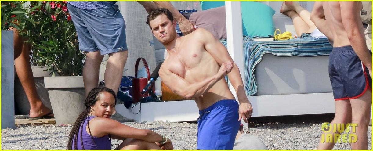 jamie dornan dakota johnson shirtless bikini fifty shades freed honeymoon 373704258