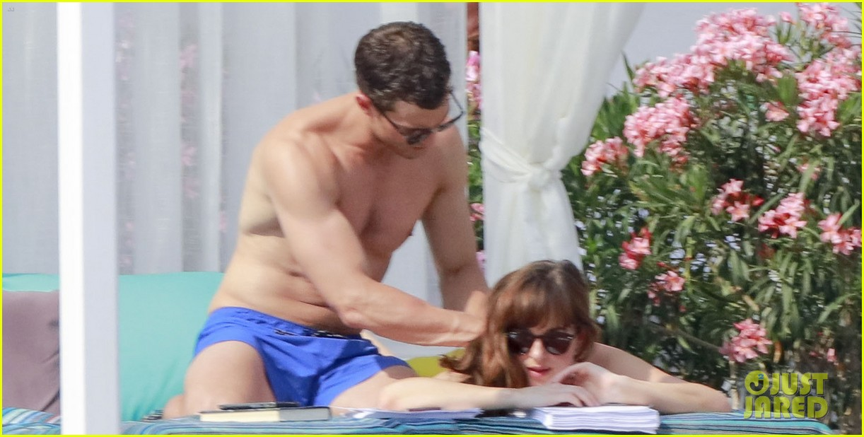 jamie dornan dakota johnson shirtless bikini fifty shades freed honeymoon 383704259