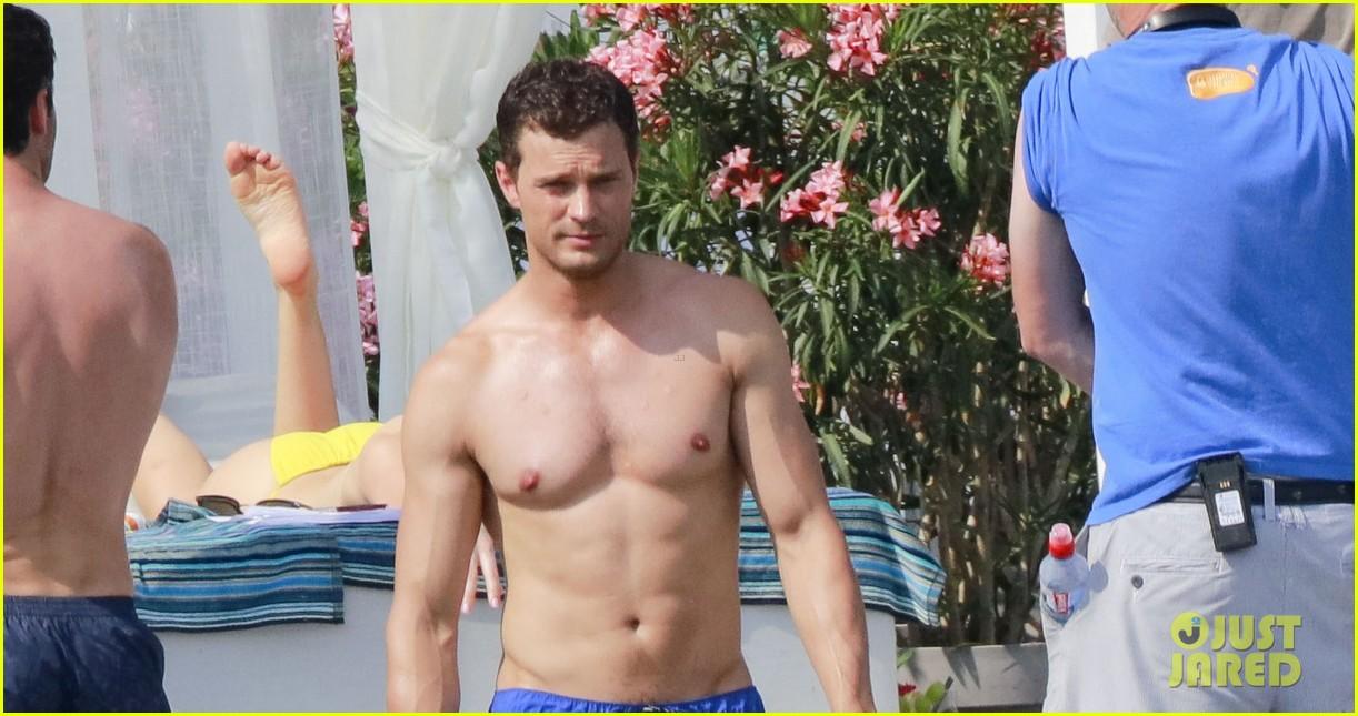 jamie dornan dakota johnson shirtless bikini fifty shades freed honeymoon 433704264
