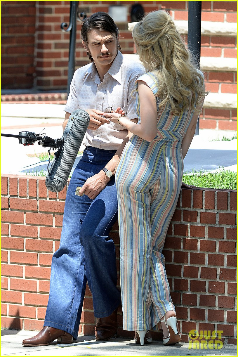 james franco amp zoe kazan get into character while filming
