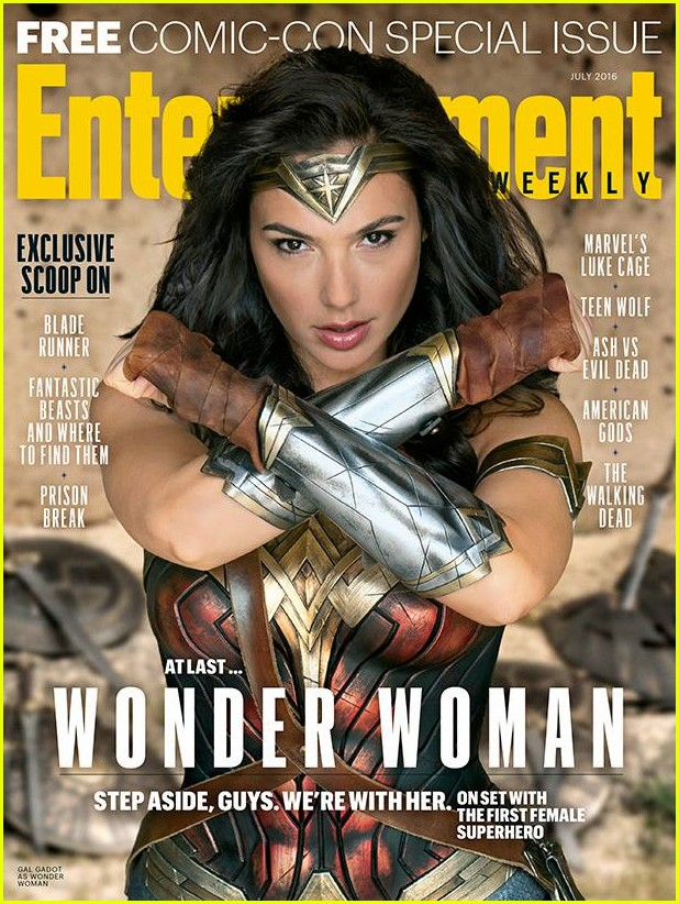 Gal Gadot Debuts First Wonder Woman Movie Poster
