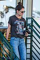 katie holmes wears a metallica shirt for casual friday outing 18