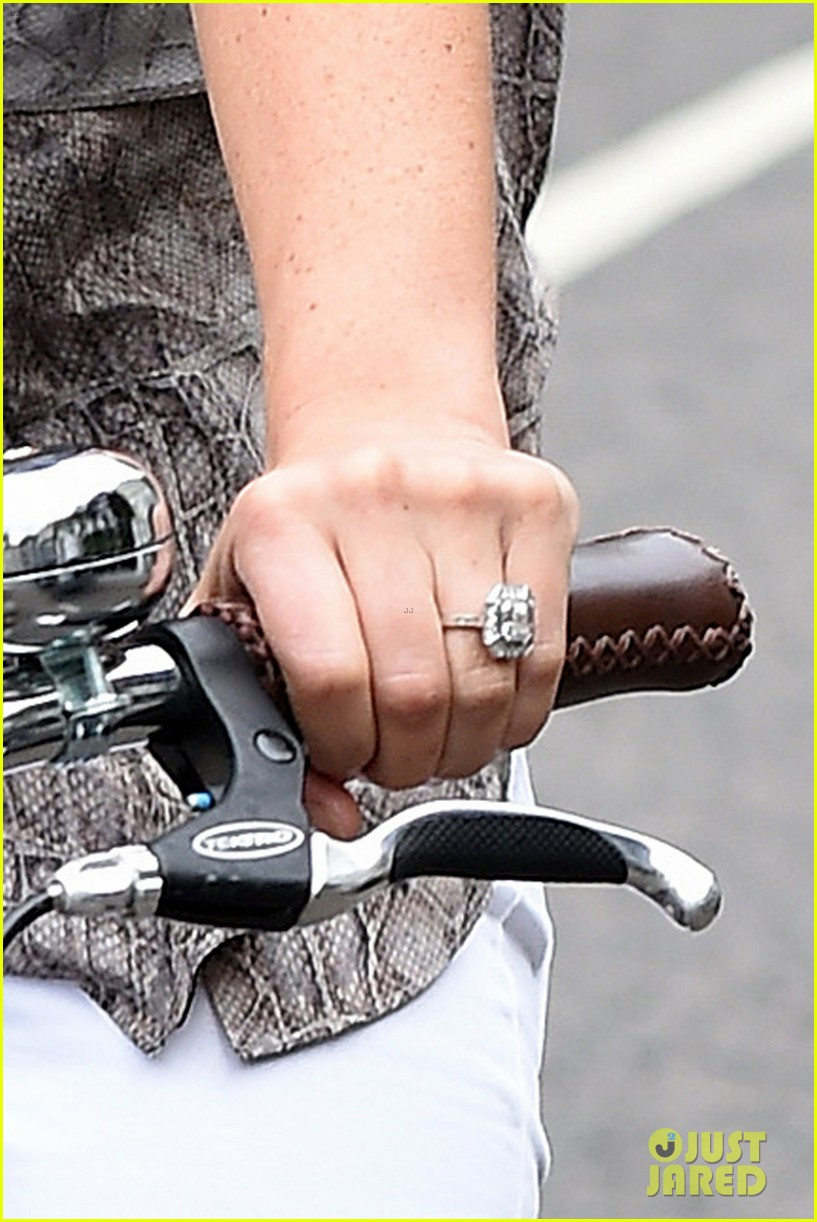 Pippa Middleton Shows Off Her Engagement Ring While Bike