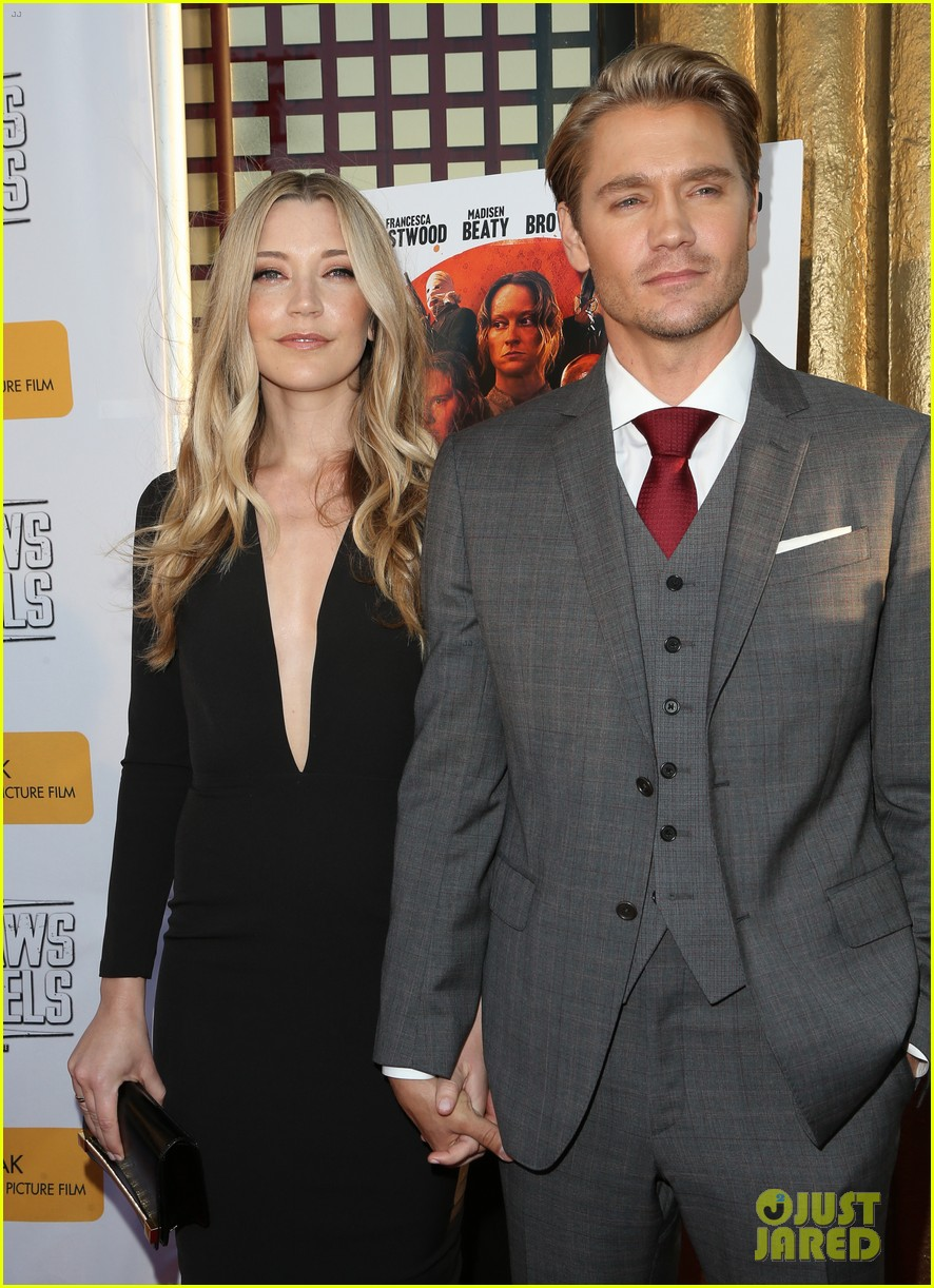 chad michael murray gets support from awesome wife sarah roemer at outlaws angels 023705240