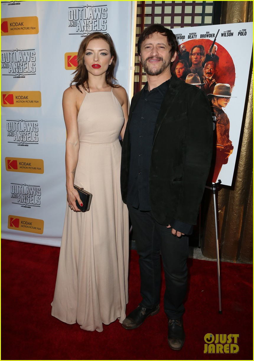 chad michael murray gets support from awesome wife sarah roemer at outlaws angels 233705261