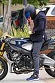 orlando bloom takes his motorcyle to malibu 17