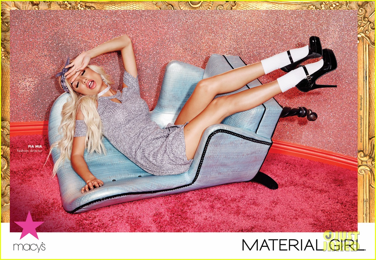 pia mia pink hair new material girl campaign 033705286