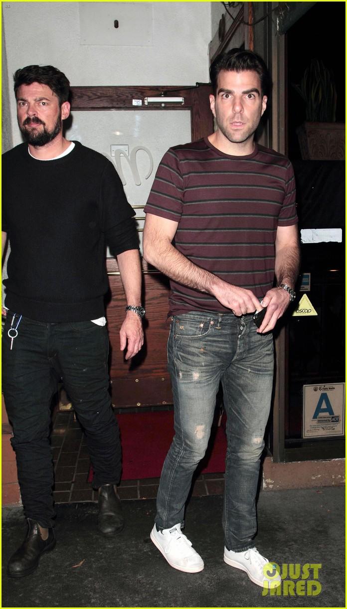 Zachary Quinto Boyfriend Chris Pine 'Star Trek' Cast Gathe...
