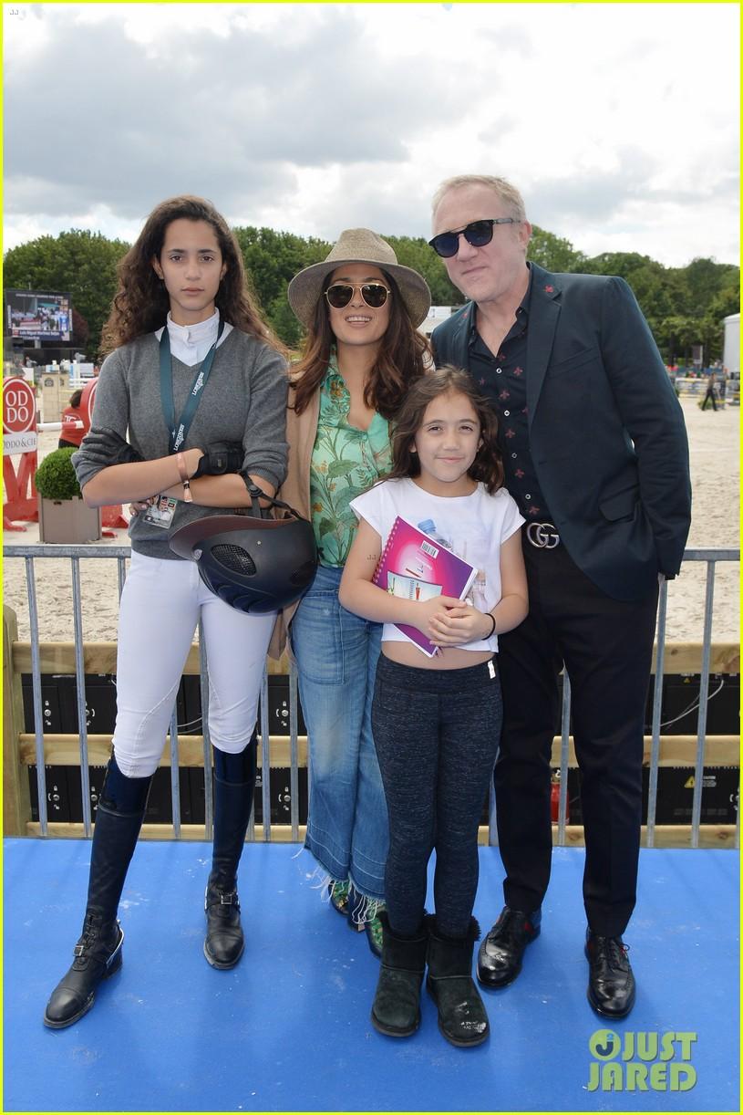 Salma Hayek Brings Daughter Valentina To Paris Horse