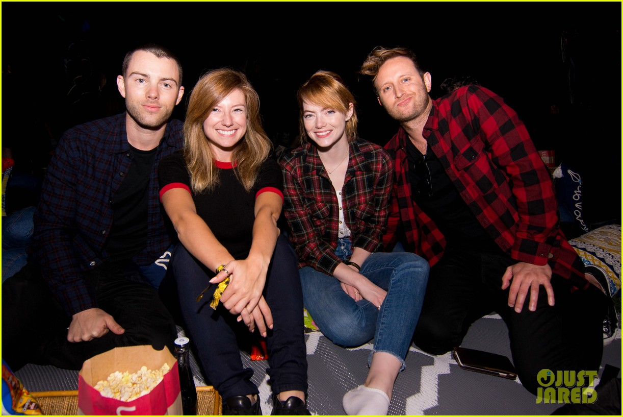 emma stone attends purple rain outdoor screening 033699509