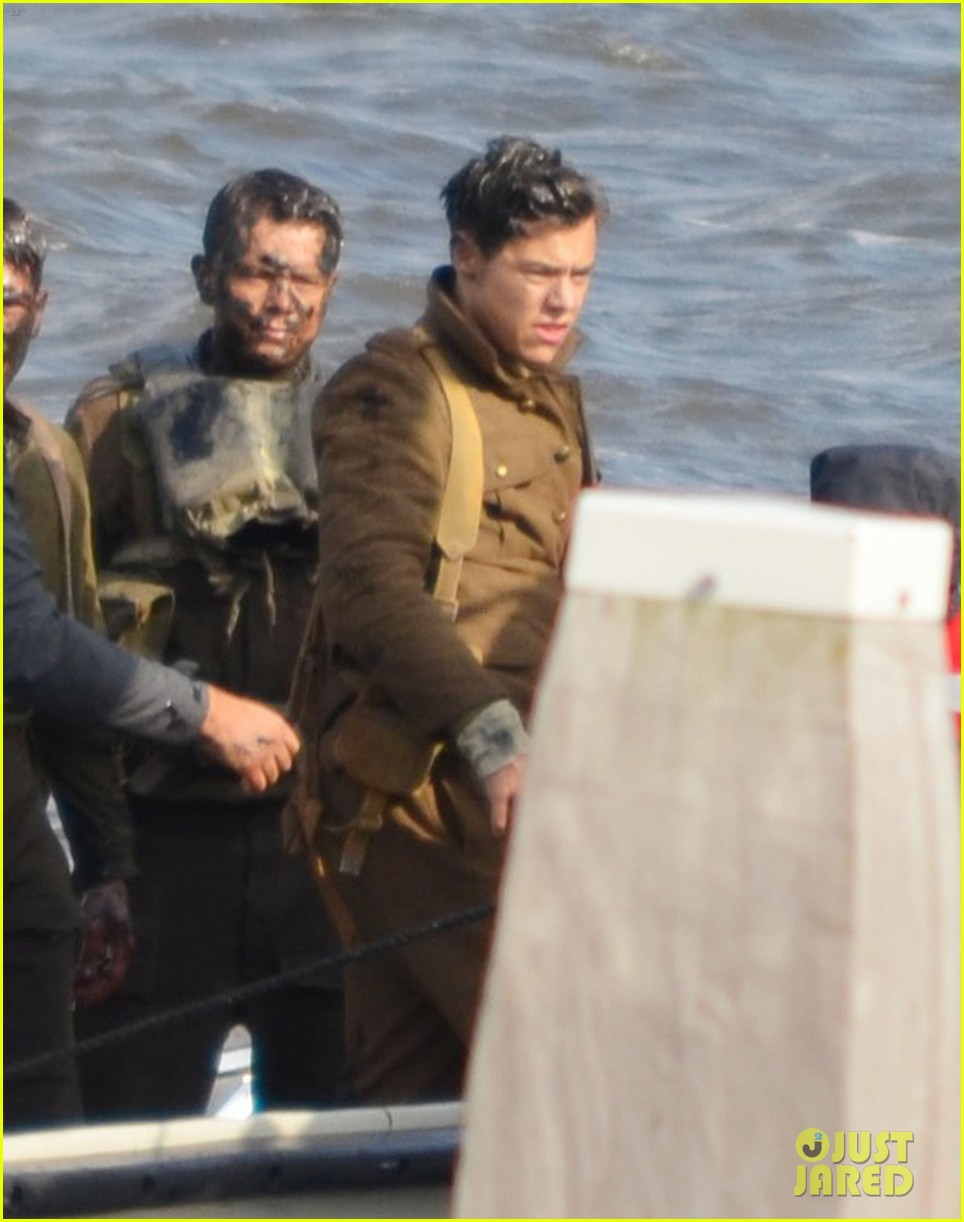 Harry Styles Shows Off His Short Hair On Dunkirk Set Photo