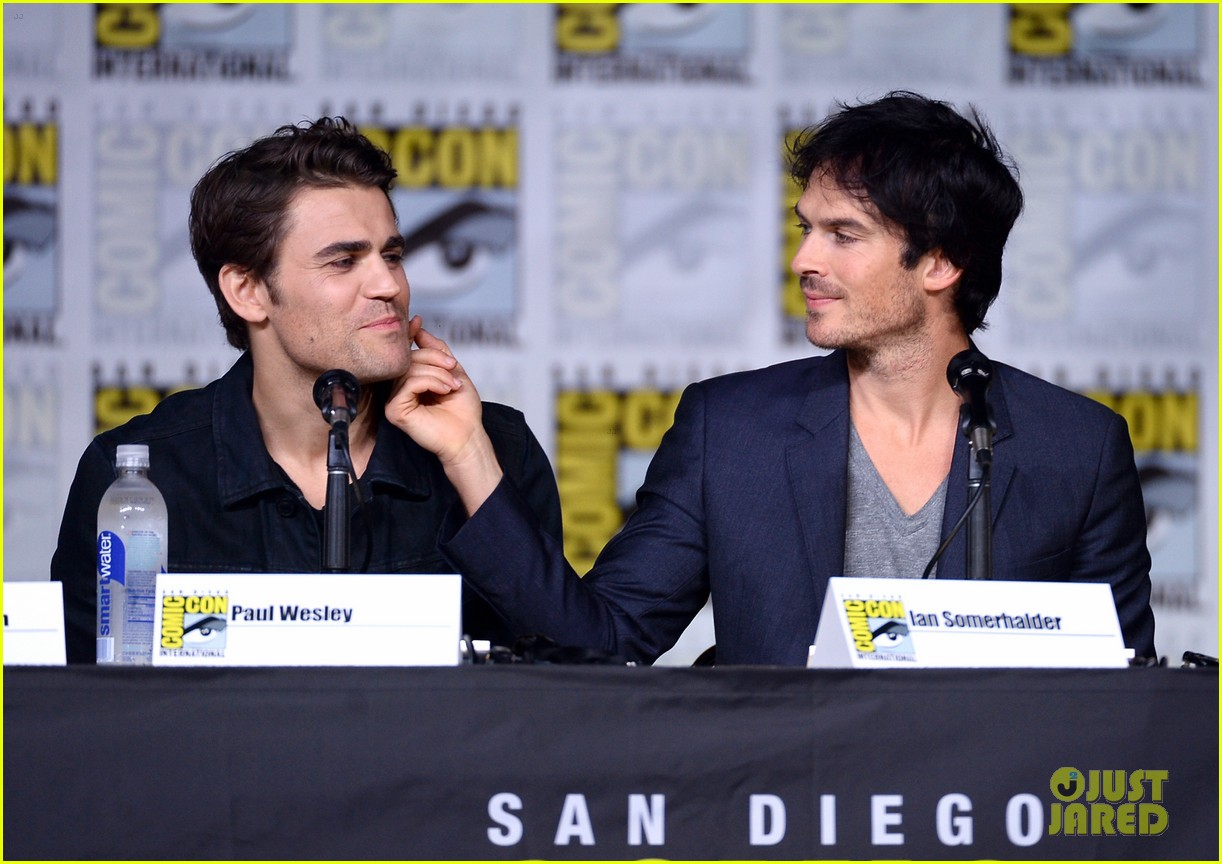 paul wesley birthday ian somerhalder tvd comic con 113715146