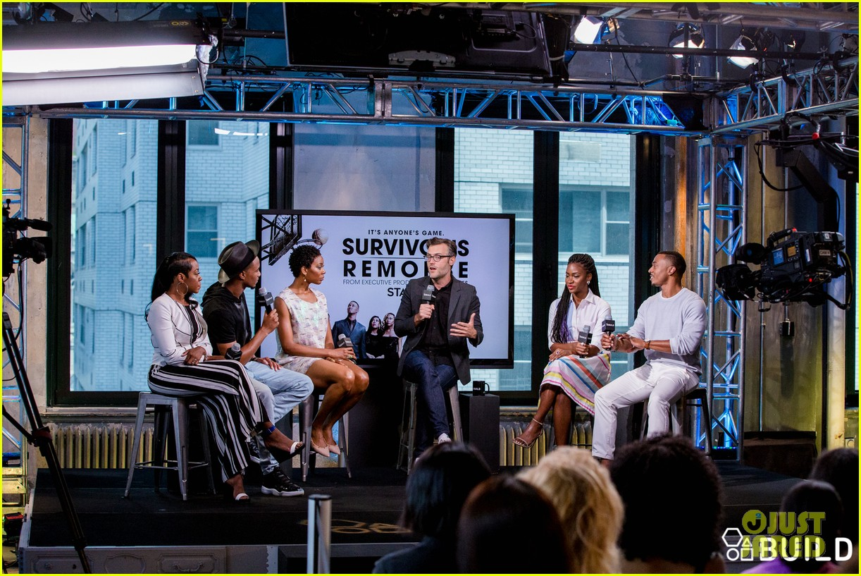 jessie usher joins survivors remorse cast in nyc for season 3 press 043704390