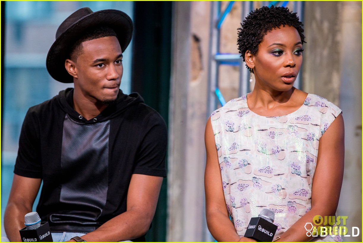 jessie usher joins survivors remorse cast in nyc for season 3 press 333704419