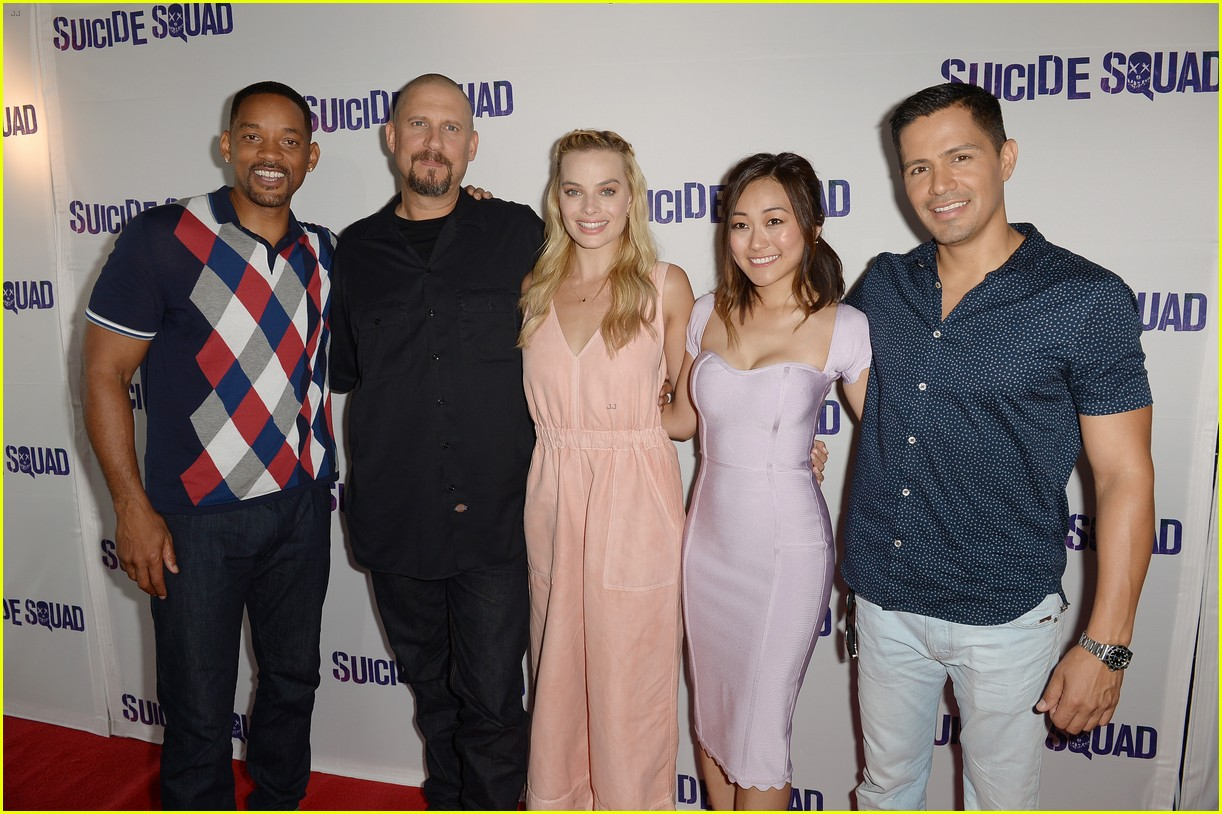 margot robbie will smith suicide squad block party 023717523