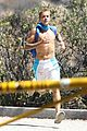 justin bieber goes on a shirtless solo hike 16