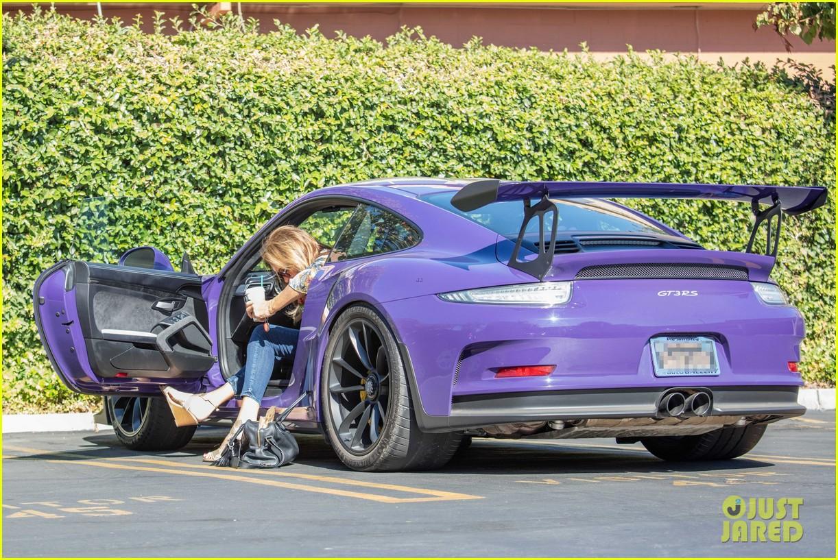Caitlyn Jenner Runs Some Errands in Her Purple Porsche: Photo ... on
