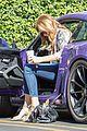caitlyn jenner purple porsche woodland hills 09