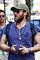 joel edgerton sports stripes while out and about in soho 01