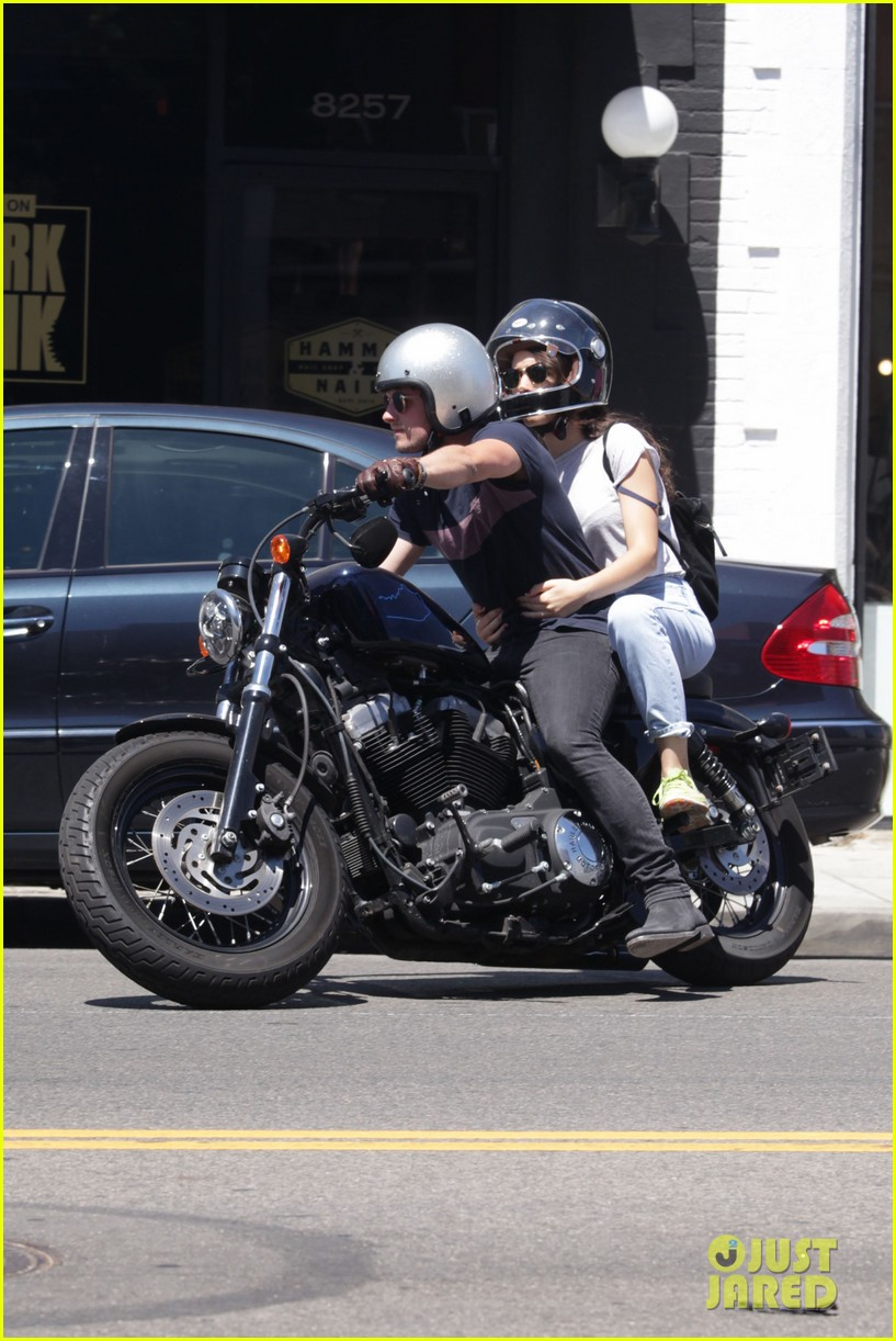 josh hutcherson claudia traisac shop la motorcycle 023737520