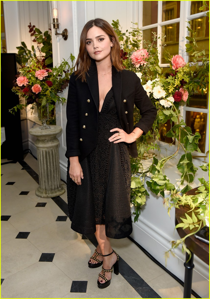 lily james celebrates buberry black campaign 073740086