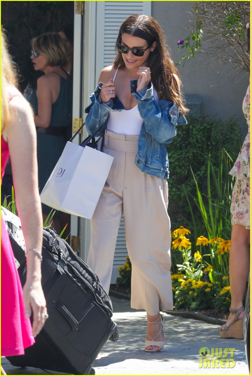 lea michele melissa benoist have glee reunion at day of indulgence 243735103