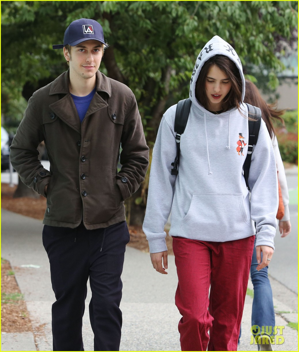 1f3f6cacc8e Nat Wolff Takes a Stroll With  Death Note  Pal Margaret Qualley ...